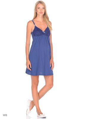 Ночная сорочка Hunny Mammy. Цвет: синий