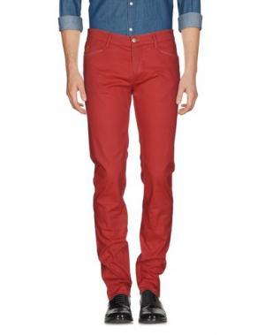 Повседневные брюки D-21. Цвет: кирпично-красный