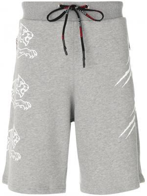 Спортивные шорты Plein Sport. Цвет: серый