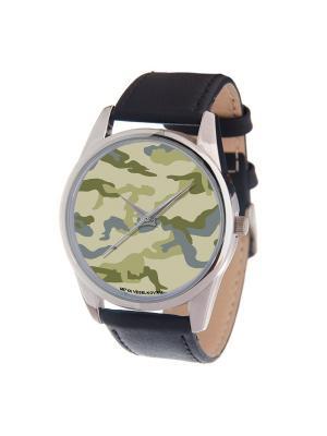Часы Mitya Veselkov. Цвет: серый, зеленый