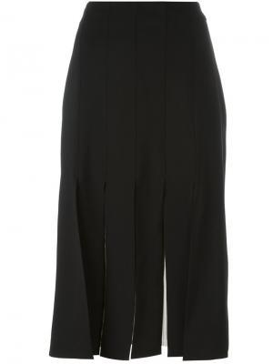 Плиссированная юбка Erika Cavallini. Цвет: чёрный