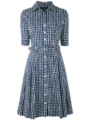 Платье шифт с принтом Samantha Sung. Цвет: синий