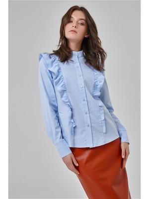Блузка Katya Erokhina. Цвет: голубой