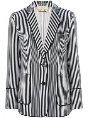 Полосатый пиджак Michael Kors. Цвет: синий