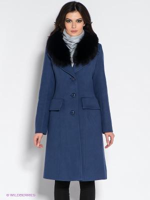 Пальто Klimini. Цвет: синий