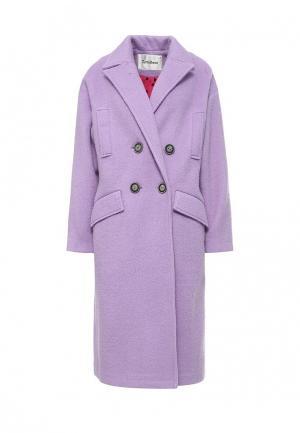 Пальто Tutto Bene. Цвет: фиолетовый
