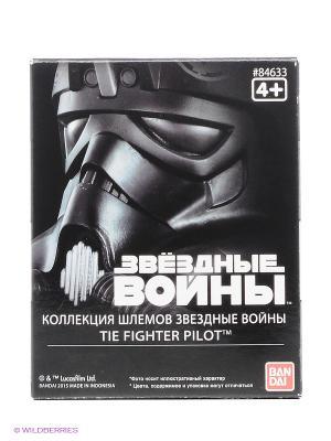 Star Wars ШЛЕМ на подставке ПИЛОТ ИСТРЕБИТЕЛЬ 6,5см Bandai. Цвет: черный