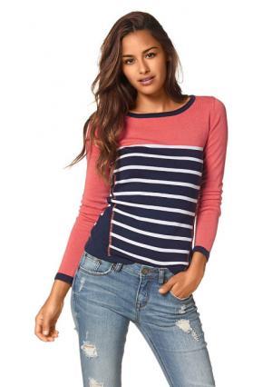 Пуловер AJC. Цвет: темно-синий/коралловый/белый