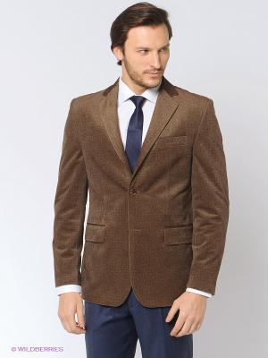 Пиджак Absolutex. Цвет: светло-коричневый