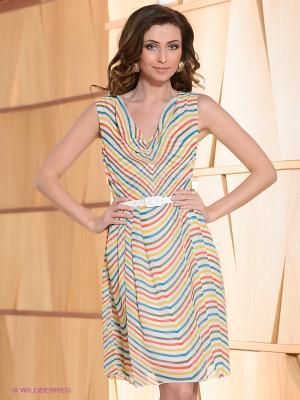 Платье La Reine Blanche. Цвет: белый, морскаяволна, красный, желтый