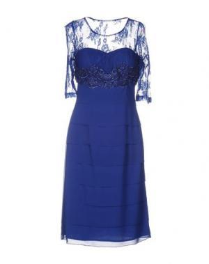 Платье до колена ALLURE. Цвет: синий