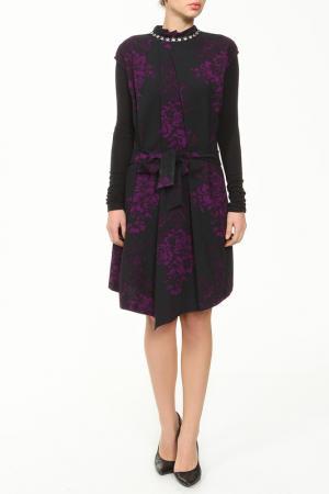 Платье XS MILANO. Цвет: черный, фиолетовый