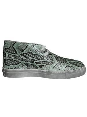 Ботинки Gilda Tonelli. Цвет: зеленый, черный