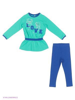 Комплект одежды Милашка Сьюзи. Цвет: синий, зеленый