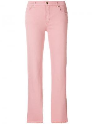 Укороченные джинсы Etro. Цвет: розовый и фиолетовый