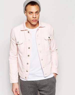 Waven Джинсовая куртка с 2 карманами Axel. Цвет: розовый