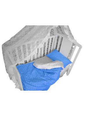 Детское постельное белье БИОСОН. Цвет: голубой