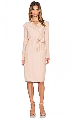 Платье с поясом suburban TY-LR. Цвет: румянец