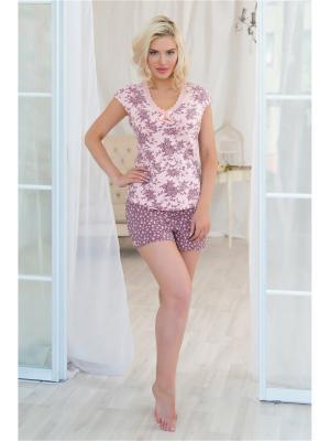 Пижама Mia Cara. Цвет: коричневый, розовый
