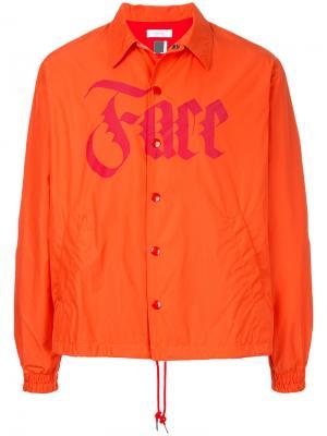 Куртка с принтом Face Facetasm. Цвет: жёлтый и оранжевый