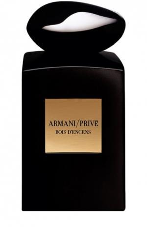 Парфюмерная вода Bois DEncens Giorgio Armani. Цвет: бесцветный