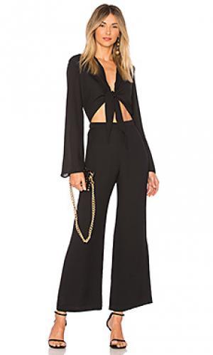 Пляжный костюм с широкими брюками lyla DELFI. Цвет: черный