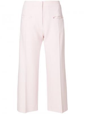 Широкие укороченные брюки Carven. Цвет: розовый и фиолетовый