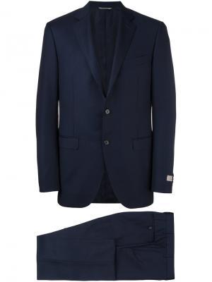 Классический костюм Canali. Цвет: синий