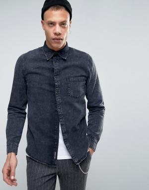 Cheap Monday Джинсовая рубашка Rude. Цвет: черный
