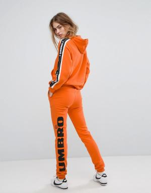 Umbro Спортивные брюки с логотипом на штанине. Цвет: оранжевый