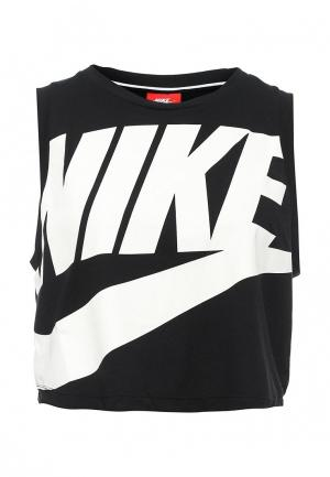 Майка Nike. Цвет: черный