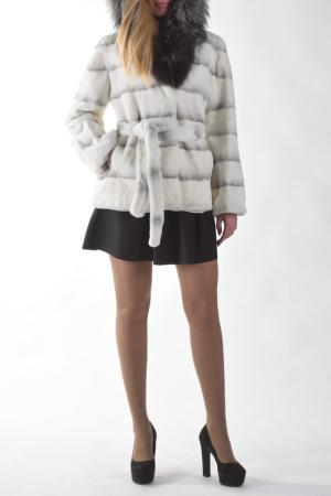 Куртка Меховая фабрика Bagiroff. Цвет: белый
