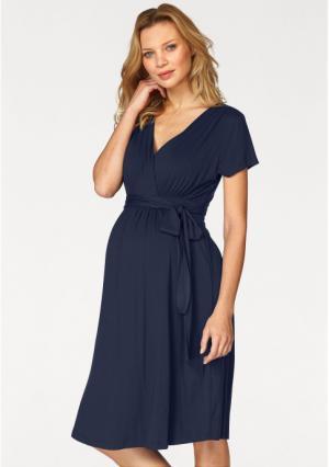 Платье Neun Monate. Цвет: светло-синий