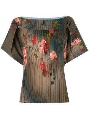 Блузка с цветочным узором Antonio Marras. Цвет: зелёный