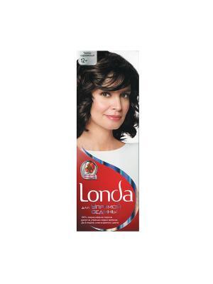 Крем-краска для волос упрямой седины стойкая 12+ Темно-коричневый LONDA. Цвет: белый, красный