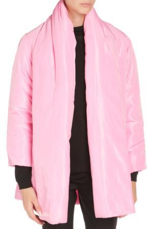 Свободное пальто без застежки Cyrille Gassiline. Цвет: розовый
