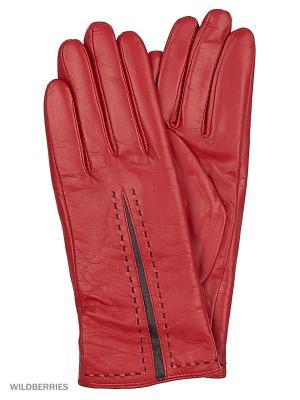 Перчатки женские Marco Bonne`. Цвет: темно-красный