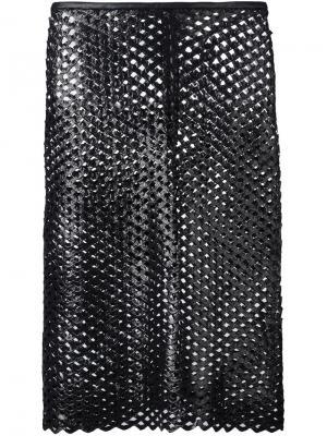 Перфорированная юбка Isabel Marant. Цвет: чёрный