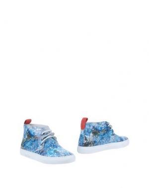 Полусапоги и высокие ботинки DEL TORO. Цвет: лазурный