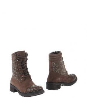 Полусапоги и высокие ботинки PRETTY NANÃ. Цвет: темно-коричневый