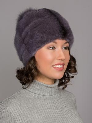 Шапка Slava Furs. Цвет: сиреневый