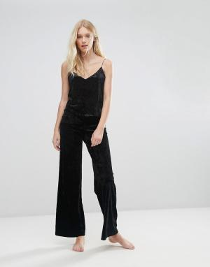 Boux Avenue Черные пижамные штаны. Цвет: черный