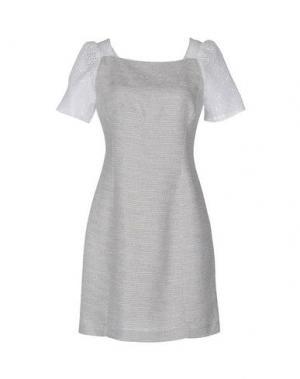 Короткое платье AXARA PARIS. Цвет: светло-серый