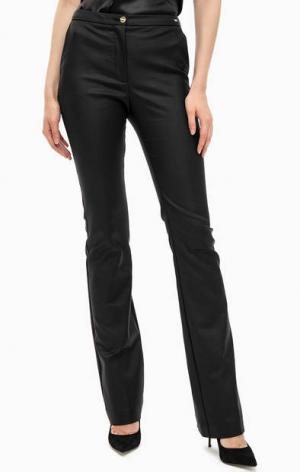 Хлопковые расклешенные брюки MARCIANO Guess. Цвет: черный