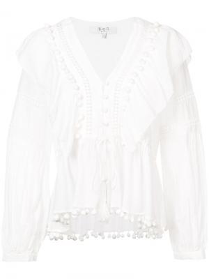 Блузка с оборками Sea. Цвет: белый
