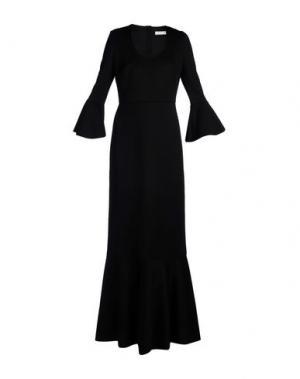 Длинное платье NORMALUISA. Цвет: черный