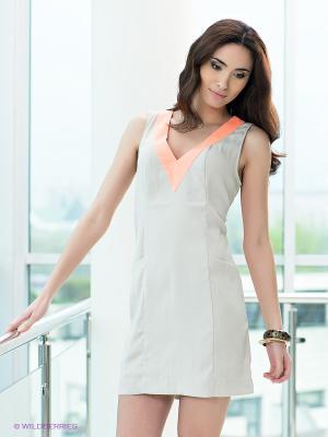 Платье Top Secret. Цвет: светло-бежевый, оранжевый