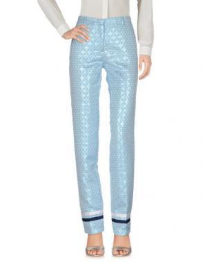 Повседневные брюки MONOCROM. Цвет: небесно-голубой