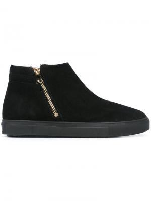 Ботинки с закругленным носком Fratelli Rossetti. Цвет: чёрный