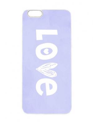 Чехол для iPhone 6 LOVE на сиреневом Chocopony. Цвет: белый, фиолетовый